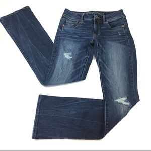 American Eagle Distressed Kick Boot Jeans Size 0